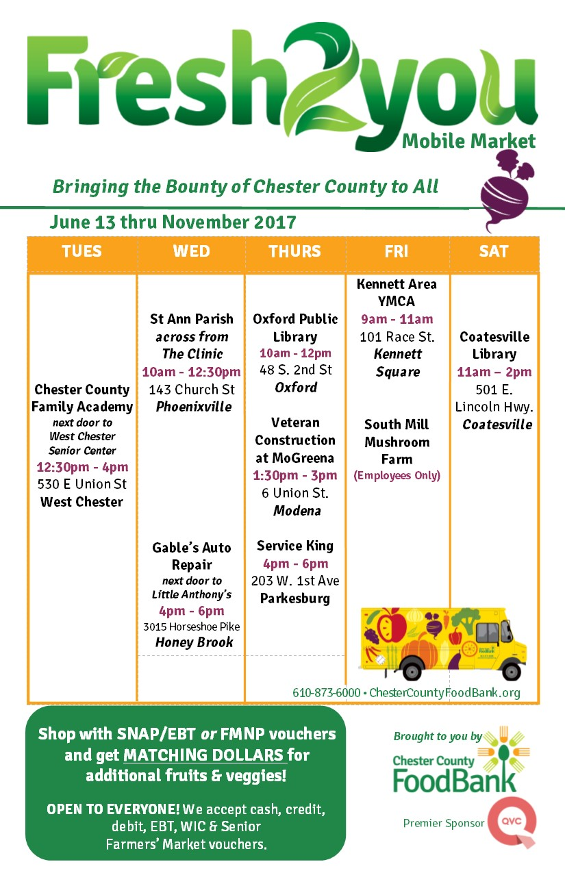 flyer_full market schedule_2017_final - chester county food bank