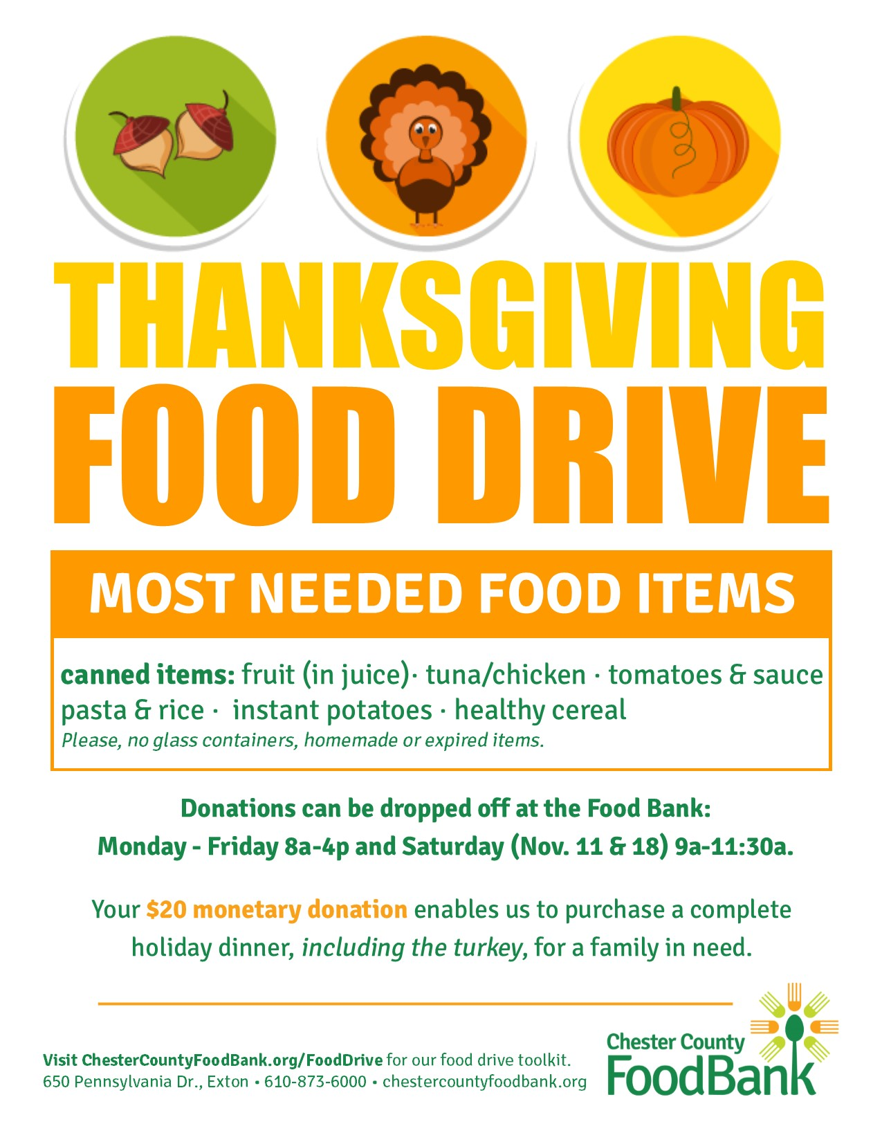 THANKSGIVING FOOD DRIVE 8.5x11 - Chester County Food Bank